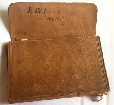 Wells, VT, 1871-1873. Leather bound. Leather account book with pocket. Good. 72 pages written, 62 bl...
