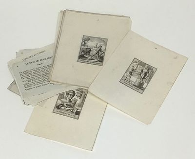 A Paris: chez E. Jourdan, quai des Augustins, n. 17, 1825. Sixteen numbered poems printed on trimmed...
