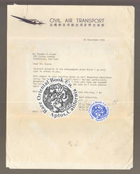 A SIGNED LETTER FROM MAJOR GENERAL CLAIRE L. CHENNAULT, RET.TO A FAN, ON HIS CIV
