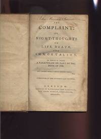 image of THE COMPLAINT: OR NIGHT THOUGHTS