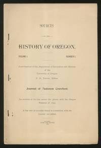 image of Sources of the History of Oregon: Volume I, Number I, Journal of Medorem Crawford