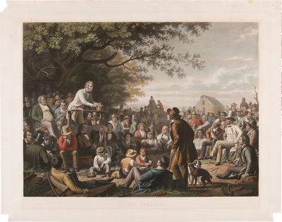 New York and Paris: Goupil & Co., 1856. Handcolored aquatint line and mezzotint engraving, 28 1/4 x ...