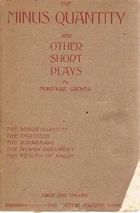 The Minus Quantity And Other Short Plays