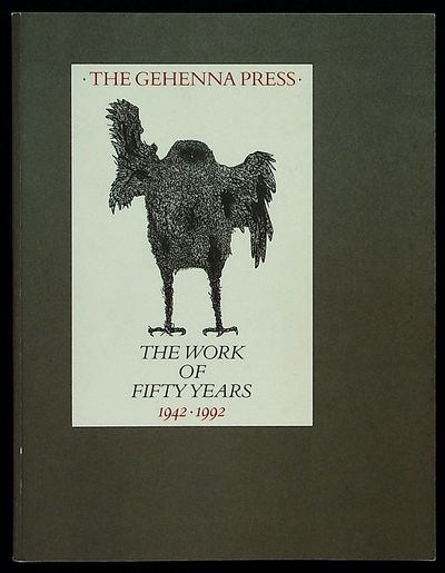 Dallas: The Bridwell Library and The Gehenna Press, 1992. Softcover. Very Good. Softcover. One of 20...