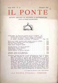 IL PONTE - DICEMBRE 1961