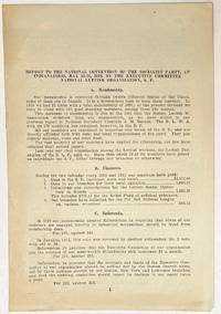 image of Report to the National Convention of the Socialist Party, at Indianapolis, May 12-16, 1912, by the Executive Committee, National Lettish Organization, SP