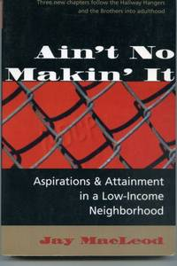 ain no makin it thesis Posts about ain't no makin' it written  sociology and life tag: ain't no makin  first edition of ain't no makin' it as an undergraduate thesis.