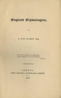 ENGLISH ETYMOLOGIES