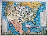 Sportsmen's Fishing Map of the United States and Neighboring Waters