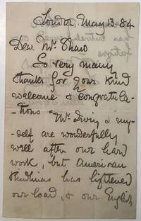 Autographed Letter Signed possibly to George Bernard Shaw