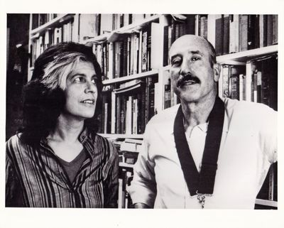 London: Institute of Contemporary Arts, 1984. Vintage photograph of director Nestor Almendros and wr...