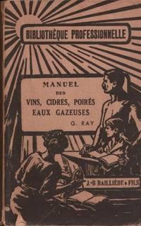 Manuel des vins  cidres  poirés  eaux gazeuses