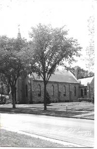 image of Church of St. Pius, Cannon Falls, MN on Monochrome Real Photo Postcard RPPC - 1940s