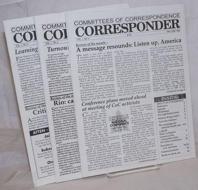 New York: Committees of Correspondence, 1992. Magazine. Three issues, various pagination, wraps., 8....