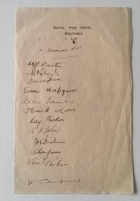 An Autographed Hotel Letter Head of the Arsenal Football Team 1931-32