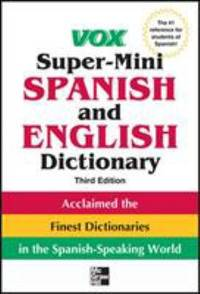 image of Vox Super-Mini Spanish and English Dictionary, 3rd Edition