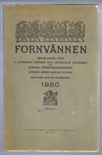 Fornvannen. Meddelanden fran K Vitterhets historie och antikvitets akademien och svenska fornminnesforeningen 1950 Hafte (No.) 4