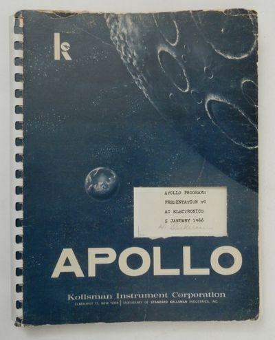Elmhurst 73, New York: Kollsman Instrument Corporation, 1966. First Edition. Comb. Good. First Editi...
