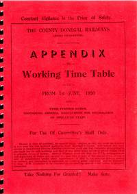 The County Donegal Railways Appendix to Working Time Table: June 1950