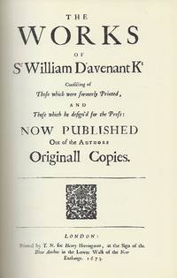 THE WORKS OF SIR WILLIAM DAVENANT. TWO VOLUMES