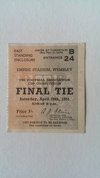Ticket Stub for the 1951 F. A. Cup Final Blackpool V Newcastle