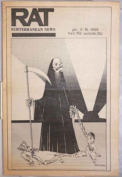 New York: R.A.T. Publications, Inc, 1969. Newspaper. 20p., folded tabloid, illus., lightly toned - m...