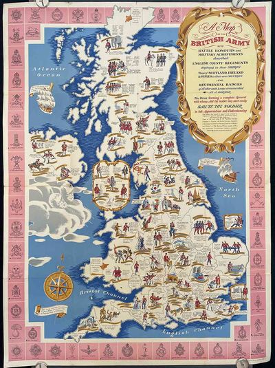 A Map of the British Army with Battle...