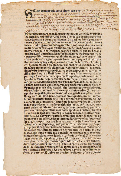 Los Angeles: The Plantin Press, 1965. ,14pp., plus printed form (completed in manuscript), 12 1/4 x ...