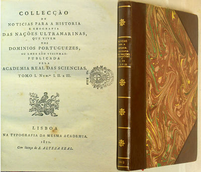 Lisboa: Na Typ. da Academia, 1812. First edition. Modern three quarter morocco over marbled boards. ...