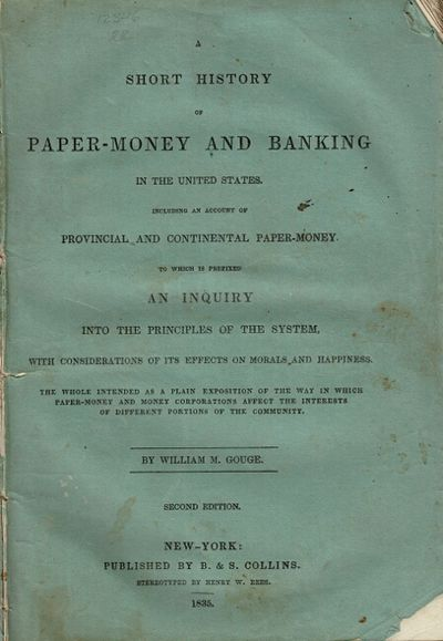 New York: B. & S. Collins, 1835. 8vo, pp. , 8-64; text in double column; original printed green fron...