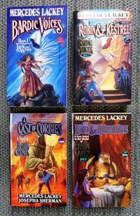 image of BARDIC VOICES SERIES.  FIRST FOUR BOOKS.  1. THE LARK AND THE WREN.  2. THE ROBIN & THE KESTREL.  2.5. A CAST OF CORBIES (BARDIC CHOICES).  3. THE EAGLE & THE NIGHTINGALES.
