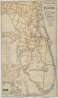 Standard Guide Map of the State of Florida furnished by the Courtesy of the Jacksonville, Tampa and Key West System and East Coast Line