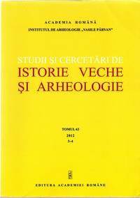 Studii si Cercetari de Istorie Veche si Arheologie (Tomul 63, 2012, 3-4)