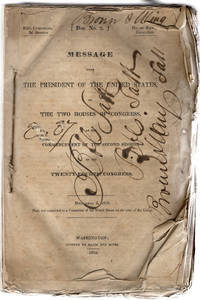 Message from the President of the United States, to the two houses of Congress, at the commencement of the second session of the twenty-fourth Congress. December 6, 1836.