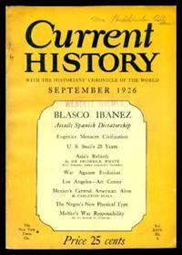 CURRENT HISTORY - Volume 24, number 6 - September 1926