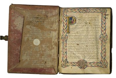 ILLUMINATED MEDIEVAL MANUSCRIPT IN LATIN ON PARCHMENT, Northern Italy, c. 1440-1470. 203 x 153 mm. 7...