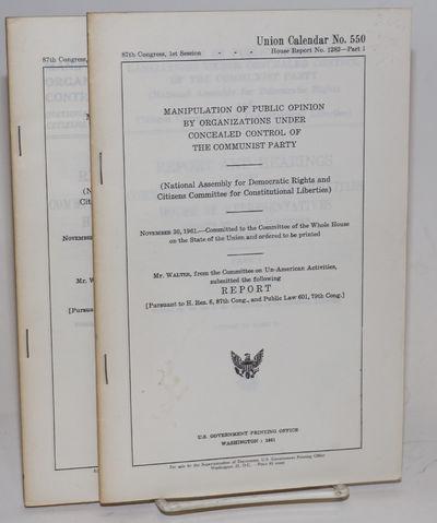 Washington: GPO, 1961. Two volumes, x, 137-217pp; viii, 219-309, xii p., very good in wraps. Several...