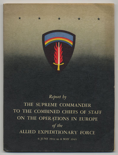 Washington, D. C.: Supreme Commander Allied Expeditionary Force, 1946. Softcover. Very Good. First A...