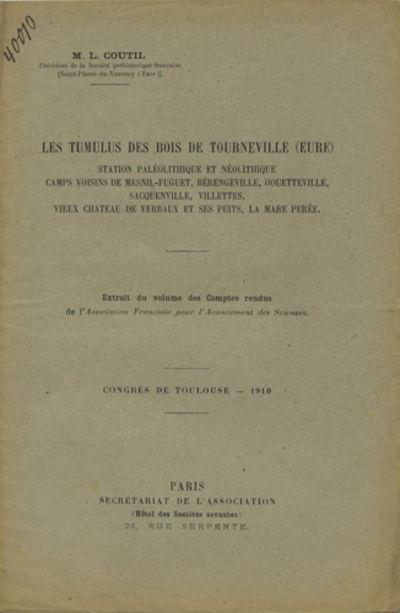 Paris: Société de l'histoire de Paris et de l'Ile-de-France, 1922. Offprint. Paper wrappers. A ver...