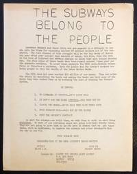 The subways belong to the people [handbill]