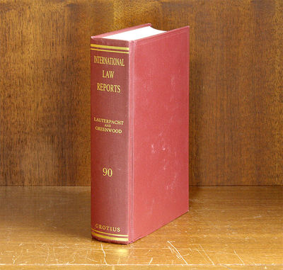 1992. ISBN: 9780521465472. International Law Reports. Volume 90. Editors: E.Lauterpacht; C.J. Greenw...