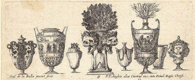 Della Bella, Stefano (1610-1664). Raccolta di Vasi Diversi. Paris: F. Langlois, 1646. Complete set o...