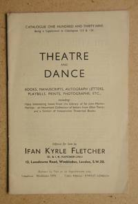 Ifan Kyrle Fletcher: Catalogue 139. Theatre and Dance.