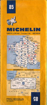 Biarritz - Luchon by Michelin - No. 85, 1:200,000 - 1975 - from Acanthophyllum Books and Biblio.com