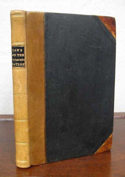 Muskogee Indian Ter: F.C. Hubbard, 1893. 1st thus (Hargrett 182). 1/1000cc. Modern tan cloth binding...