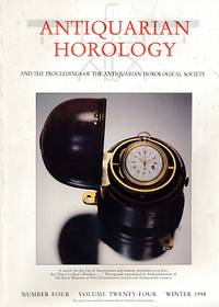 Antiquarian Horology and the Proceedings of the Antiquarian Horological Society. Volume 24. No 4. Winter 1998