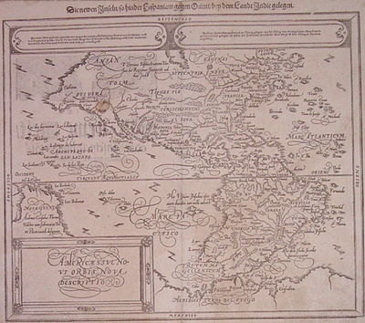 Basel: Petri, Sebastian, 1598. unbound. very good. Map. Woodcut. Image measures 12.25