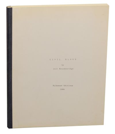 Minneapolis, MN: Milkweed Editions, 1986. First edition. Softcover. Padbound proof that measures 8.5...