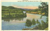 Deerfield Valley, along the Mohawk Trail, Mass, unused linen Postcard