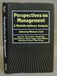 Perspectives On Management - A Multidisciplinary Analysis